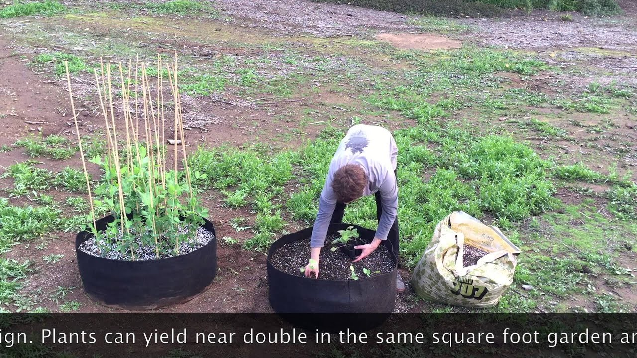 GrowGarden Raised Fabric Garden Bed YouTube