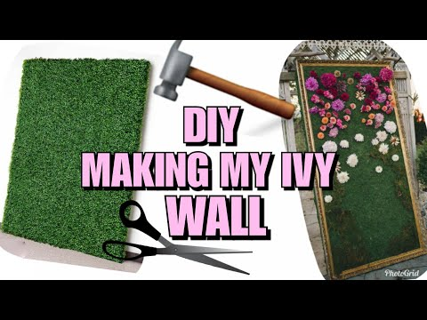 SHOP WITH ME: MAKING MY DIY IVY GRASS WALL , FOR MY OFFICE PT1.  HOME DECOR   FEBUARY 2018