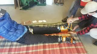 Adjustable Ski Pole Traction Splint
