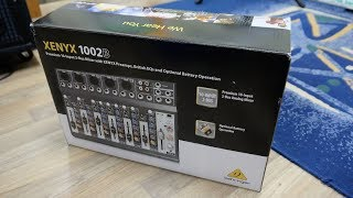 Behringer XENYX 1002B Unboxing and Test