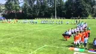 cérémonie d'ouverture mondialito U13 sous un air de ligue des champ...