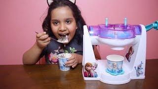 لعبة ماكينة الايس كريم الحقيقية للاطفال العاب الطبخ للبنات real ice cream maker toy game