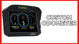 homepage tile video photo for How to Make a CUSTOM ODOMETER on Your CD DASH!