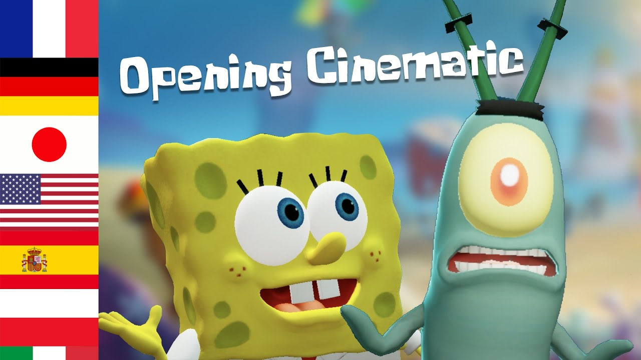 Battle for Bikini Bottom: Rehydrated - Opening Cinematic in 7 different languages