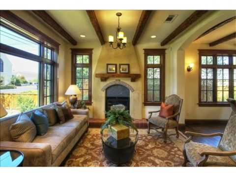 Living Room with Wood Beam Ceiling - YouTube