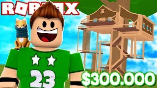 A HOUSE OF 300,000$ IN A ARBOL ! Roblox Tree House Tycoon