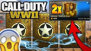 OPENING 4 HEROIC WEAPON BRIBES in COD WW2! I ALMOST CRIED (CRAZY REACTIONS)