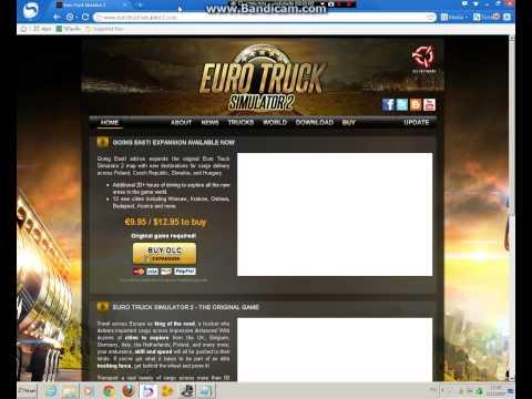 วิธีโหลดeuro truck simulator 2