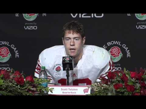 2011 ROSE BOWL Post game press conference - Scott Tolzien