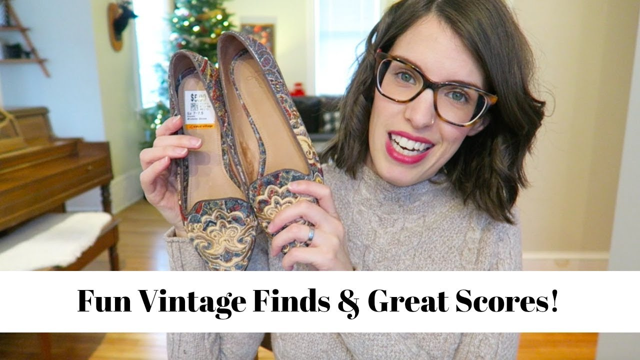 Winter Thrift Haul | Holiday Outfit Ideas! | Vintage Finds 2