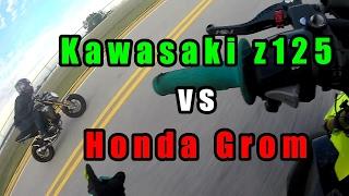 Honda Grom VS Kawasaki Z125 | Drag Race!