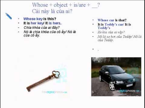 học tiếng anh video Bài 6: Ai, Của Ai ngoai ngu dich sang tieng anh tu dien anh viet dich