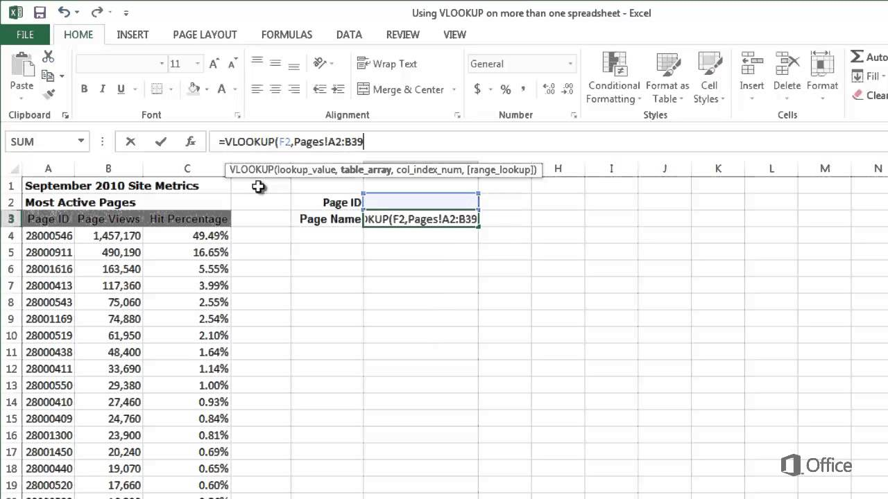 Training Vlookup In Excel 2013 Look Up Values On A