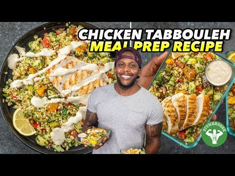 Meal Prep: Chicken Tabbouleh with Roasted Veggies & Tahini