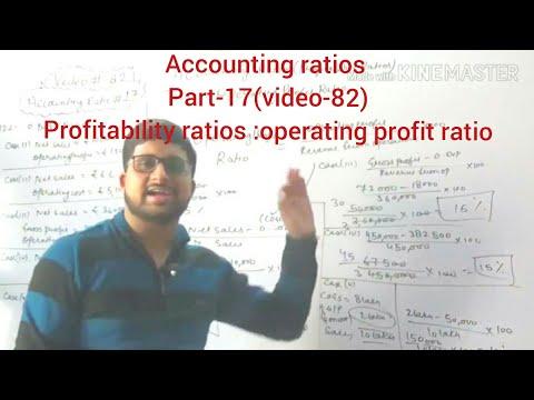 #82,class 12 accounts:accounting ratios(profitability ratios:operating profit ratio)
