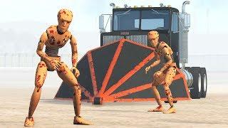 Revenge of the Trucker - Crash Test Zombies - BeamNG Drive Demolition Republic