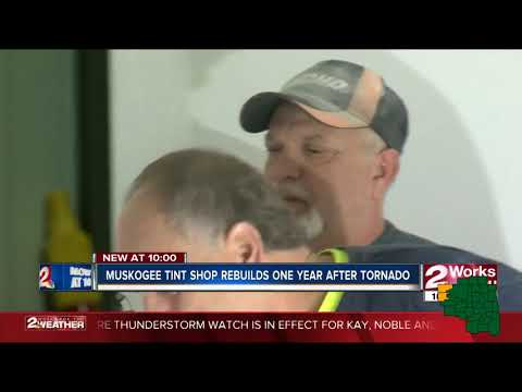 Muskogee business back in action one year after tornado