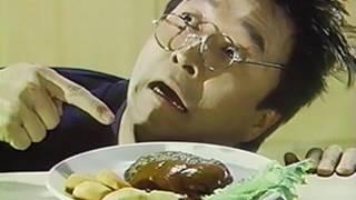 普通のマルシンハンバーグは有名だけど、このランチバーグは食ったことないなぁ。 CMを見る限りではおいしそうだ。 うしろで風に飛ばされる人は何者? 声:永井一郎.