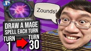 1 Mana DRAW 30?! Unbelievable Archmage Staff Value! | Duels | Hearthstone