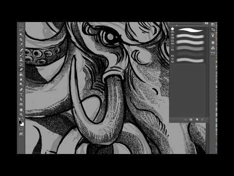"""DARTOFUS : make awesome brush in photoshop from """"tissue"""" and how it works (timelapse)"""