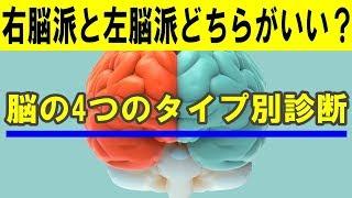 【脳診断】こんなに違う!右脳派と左脳派の驚くべき違い【知ってるつもり】