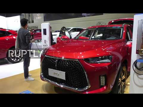Great Wall of China unveils luxury SUV WEY P8 at Beijing Auto Show