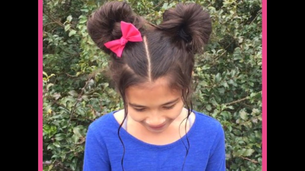 minnie mouse ears hairstyle | _angieshairstyles_ - youtube