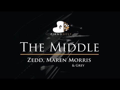 Zedd, Maren Morris & Grey - The Middle - Piano Karaoke / Sing Along / Cover with Lyrics