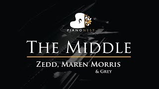 Zedd, Maren Morris & Grey - The Middle - Piano Karaoke / Sing Along / Cover with Lyrics