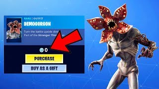The STRANGER THINGS Item Shop FREE SKINS in Fortnite...