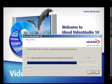 Video Cara setup ulead video studio 10