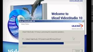 Video Cara setup ulead video studio 10