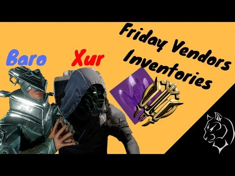 Friday Vendors! (Destiny 2 and Warframe) [Dec. 15th - 19th]