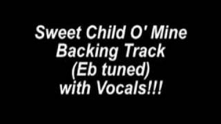 Sweet Child O 39 Mine Backing Track Eb Tuned with Vocals