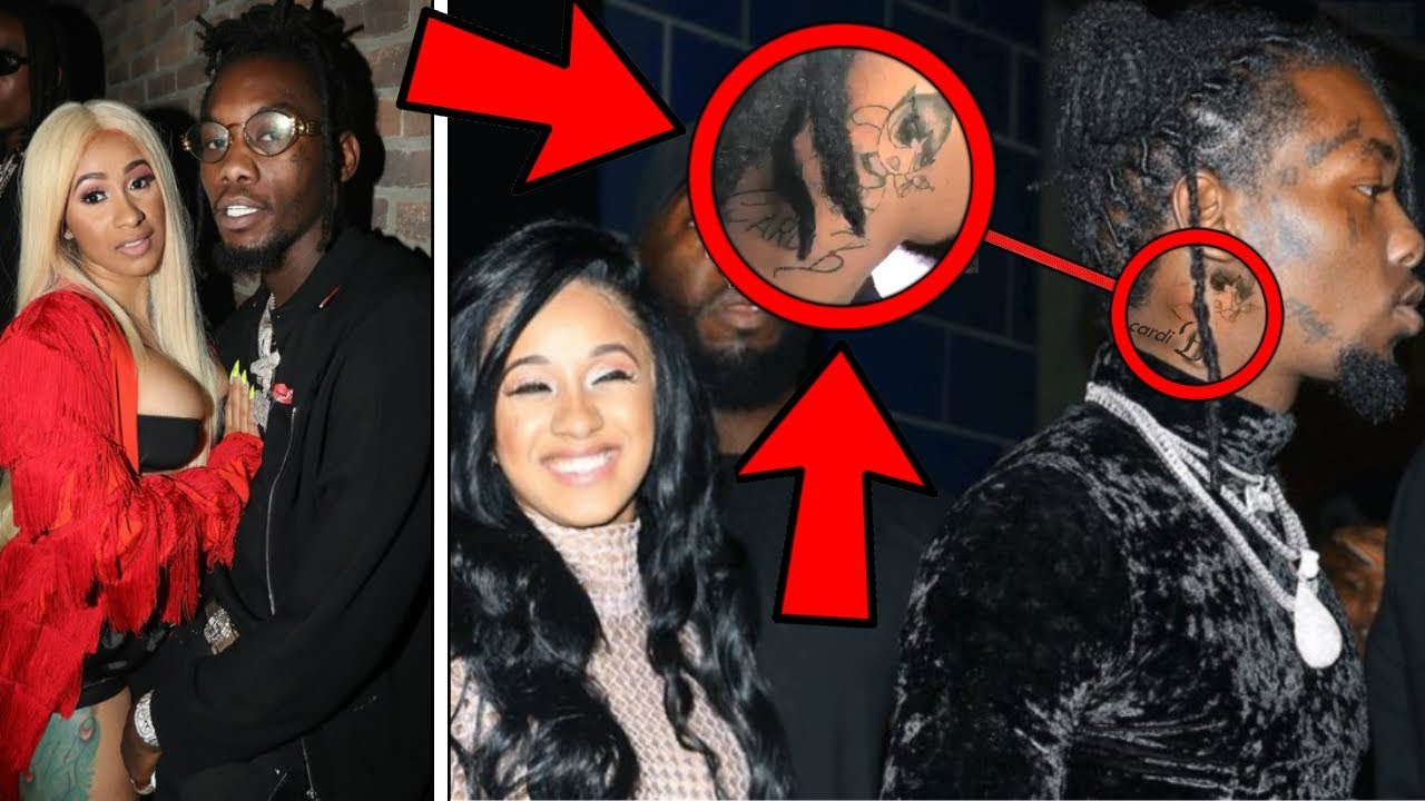 "Is Cardi B S Offset Name Tattoo Real The Ink Is A Giant: This Is Why Offset Got "" Cardi B "" Tattooed On His Neck"