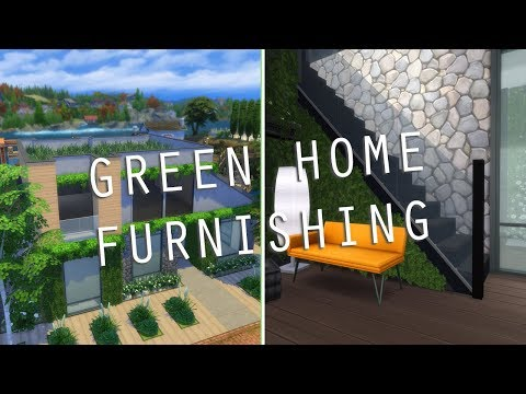 THE SIMS 4 SPEED BUILD | GREEN/ECO HOME FURNISHING!