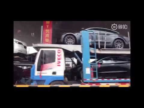 Tesla Gigafactory 3's first pillar gets built as Model 3 deliveries invade China