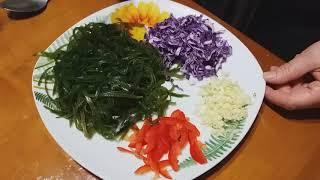 Полезный Салат из морской капусты, богатый йодом