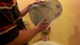 Как отмыть бутыль от зелени