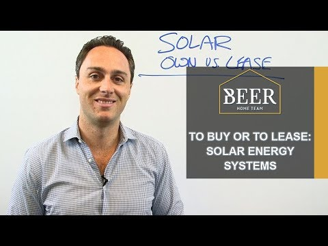 San Diego Real Estate Agent: To Buy or to Lease: Solar Energy Systems