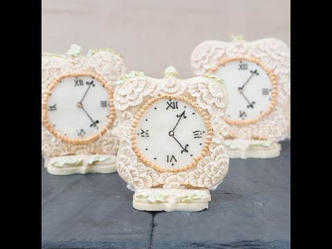 Antique Lace Royal Icing Clock