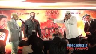 DR. WAGNER JR y  Konnan llegan sorpresivamente a la conferencia de prensa Triplemanía XXI