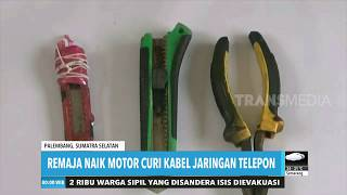 Remaja Naik Motor Curi Kabel Jaringan Telepon