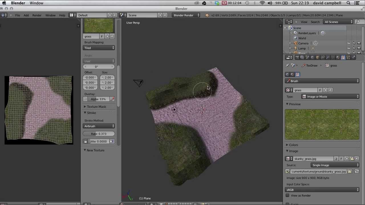Blender Texture painting a terrain YouTube