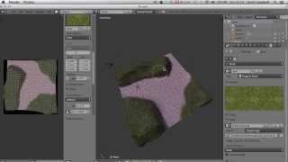 Blender: Texture painting a terrain