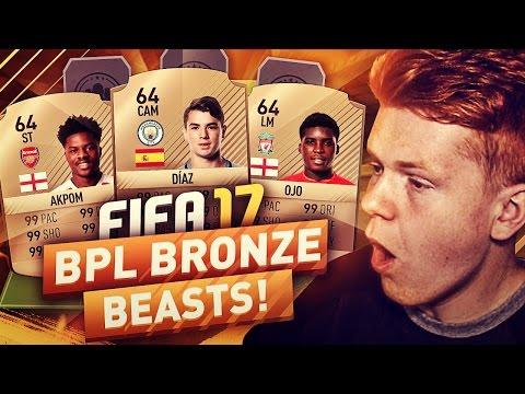 PREMIER LEAGUE BRONZE BEASTS!!! - FIFA 17 ULTIMATE TEAM
