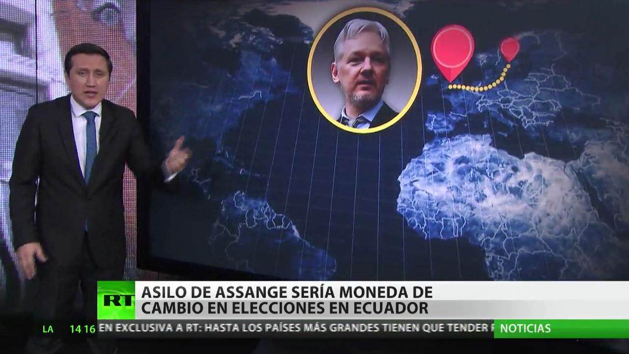 Resultado de imagen de ASSANGE Y segunda vuelta de las elecciones en Ecuador.