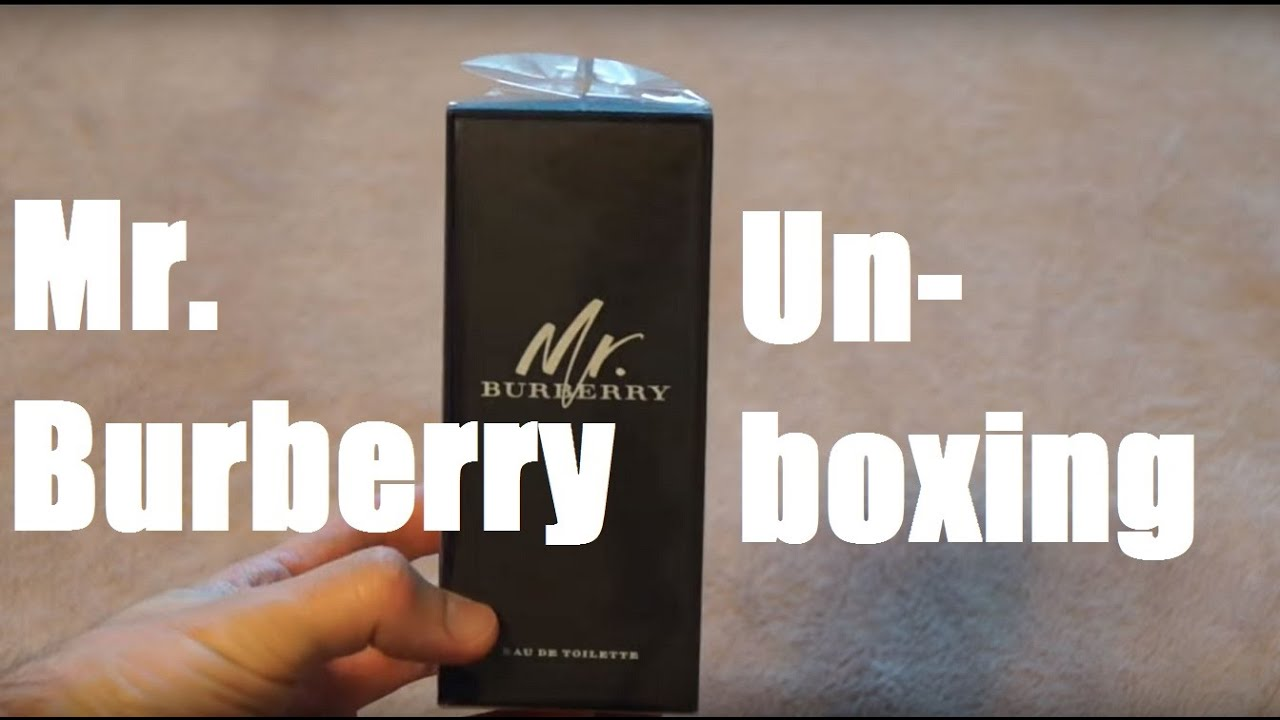 a79a0eacaf8519 Mr. Burberry Unboxing! - YouTube