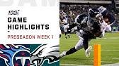 Titans vs. Eagles Preseason Week 1 HighlightsNFL 2019