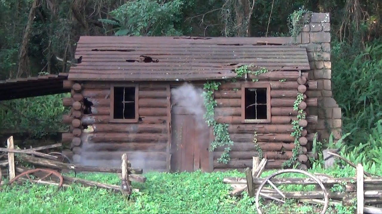 New Smoking Settler S Cabin Formerly Burning As Seen